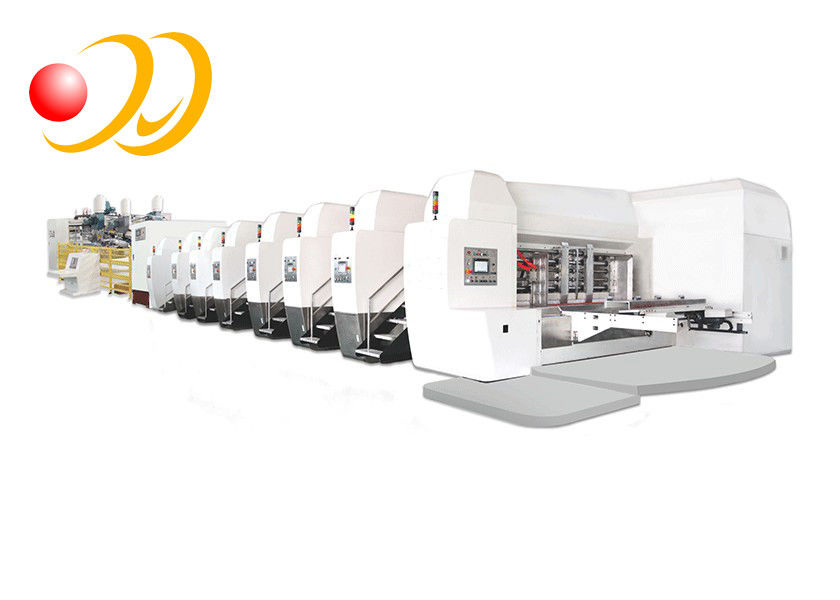 Servo Control Corrugated Box Machine Die Cutting In - Line Folding Gluing